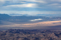 Castle Peaks North in front of Ivanpah Solar Array (2 of 3)