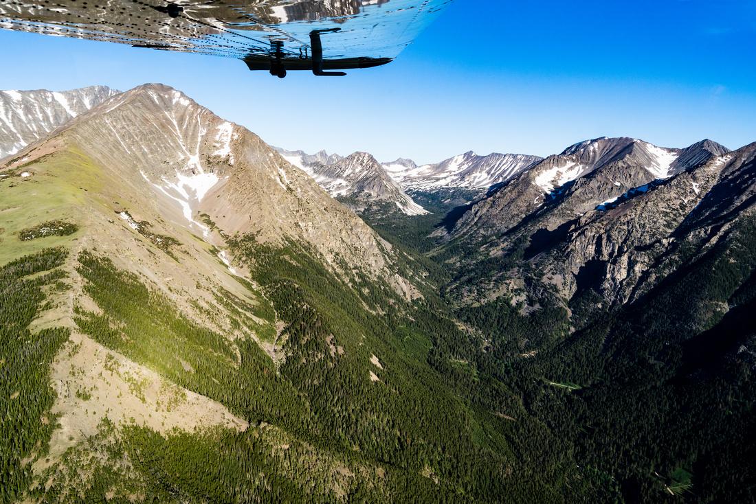 Big Timber Peak and Creek