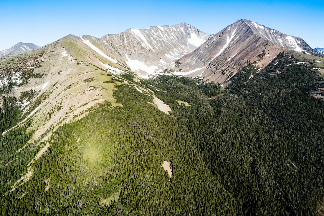 Crazy Peak and Big Timber Peak