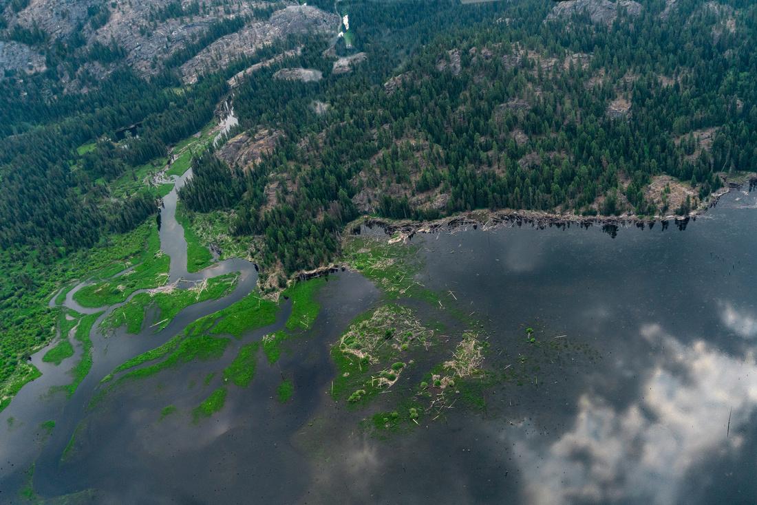 N of Payette Lake