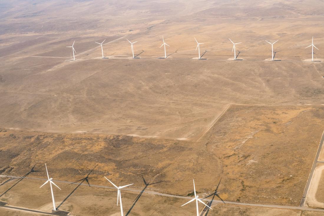 Wind turbines south of Filer