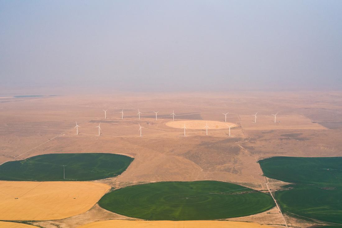 Wind Turbines South Twin Falls