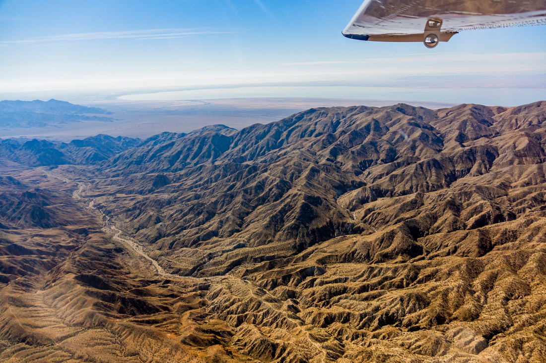 Mecca Hills and Salton Sea