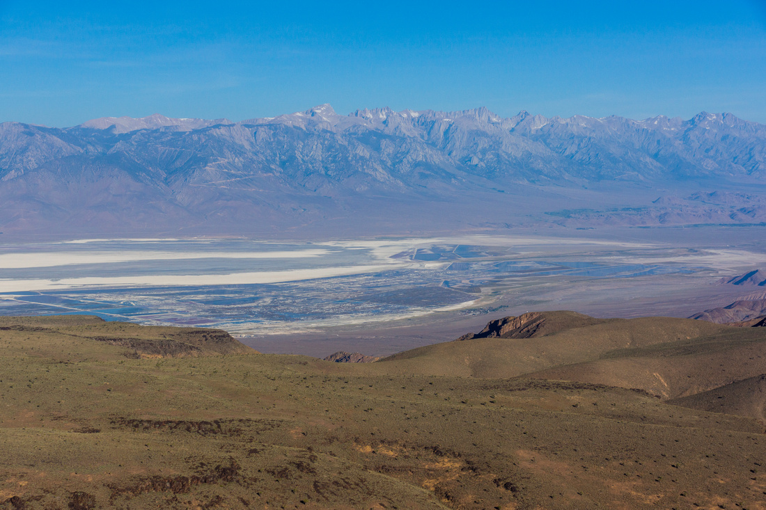 Malpais Mesa and Owens Lake and Eastern Sierra