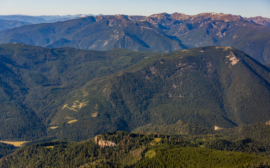 Gallatin National Forest Lee Metcalf Wilderness in distance-3