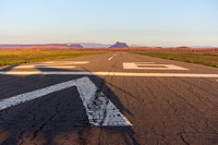 Hanksville Airport with Factory Butte in distance