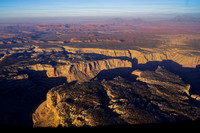 Cataract Canyon with Lake Powell and the Henry Mnts in distance