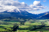Mount Sopris - Maroon Bells Snowmass Wilderness; Proposed Hay Park Wilderness at the base