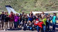 Students in front of EcoFlight plane at Glenwood Springs airport