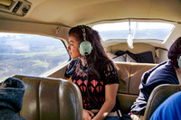 Monica Alvarado, AP Environmental Science  student from GSHS views the Roaring Fork watershed from an EcoFlight