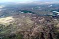 gas wells along ridge of Green River