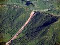 Bull Mountain Pipeline in Roadless area