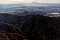 San Gabriel Mountains and LA