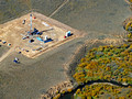 Natural gas well next to Arapahoe Creek. Site of a 2011 blowout.
