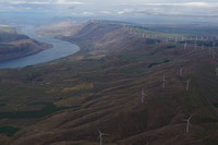 Coumbia River Gorge wind farms Washington and Oregon