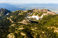 Blaine Mountain and Jenny Lake with Flathead Lake in the background-2